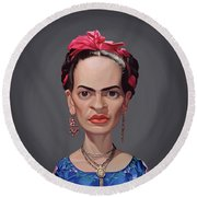 Celebrity Sunday - Frida Kahlo Round Beach Towel
