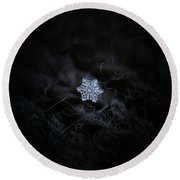 Real Snowflake - 2017-12-07 1 Round Beach Towel