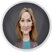 Celebrity Sunday - J.k.rowling Round Beach Towel