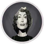 Celebrity Sunday - Joan Crawford Round Beach Towel