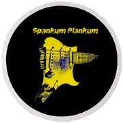 Round Beach Towel featuring the photograph Spankum Plankum by Guitar Wacky