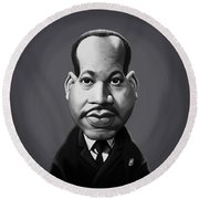 Celebrity Sunday - Martin Luther King Round Beach Towel