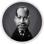Celebrity Sunday - Martin Luther King Round Beach Towel