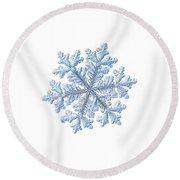 Real Snowflake - Hyperion White Round Beach Towel