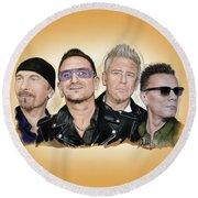 U2 Band Round Beach Towel