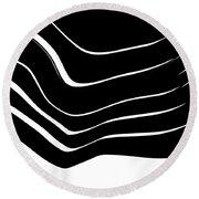 Organic No. 10 Black And White #minimalistic #design #artprints #shoppixels Round Beach Towel