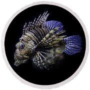 Majestic Lionfish Round Beach Towel
