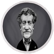 Celebrity Sunday - Kurt Vonnegut Round Beach Towel