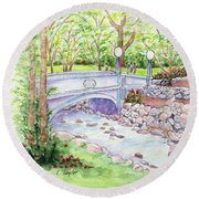 Creekside Round Beach Towel