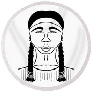 Minnehaha Round Beach Towel