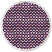 Round Beach Towel featuring the digital art Flying Bats Pattern In Pale Colors by MM Anderson
