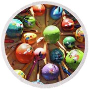 Mexican Maracas Round Beach Towel