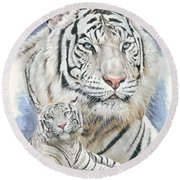 Dignity Round Beach Towel by Barbara Keith
