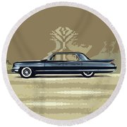 1961 Cadillac Fleetwood Sixty-special Round Beach Towel