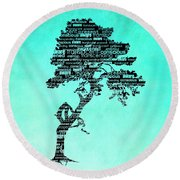 Bodhi Tree Of Awareness Round Beach Towel