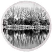 Rippled Reflection Round Beach Towel by Bill Kesler
