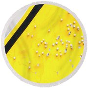 That's Not Braille Round Beach Towel by Bill Kesler