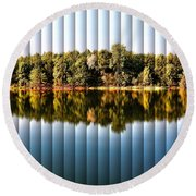 Round Beach Towel featuring the photograph When Nature Reflects - The Slat Collection by Bill Kesler