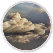 Round Beach Towel featuring the photograph Cupcake In The Cloud by Bill Kesler