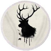 Elk Round Beach Towel