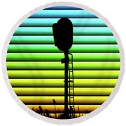 Signal At Dusk Round Beach Towel