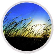 Round Beach Towel featuring the photograph Tall Grass by Bill Kesler