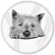 Little Dog Round Beach Towel