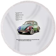 Vw Parts Round Beach Towel