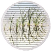 Graceful Grass - The Slat Collection Round Beach Towel