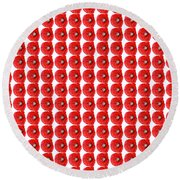 Beautiful Red Poppy Papaver Rhoeas Round Beach Towel