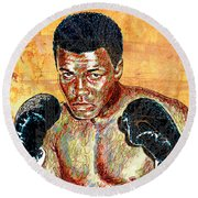 The Greatest Of All Time Round Beach Towel by Maria Arango