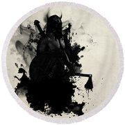 Viking Round Beach Towel by Nicklas Gustafsson