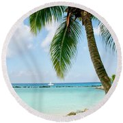 Aruban Oasis Round Beach Towel