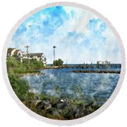 Arundel On The Bay Round Beach Towel