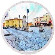 Arzachena Risorgimento Square Round Beach Towel
