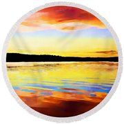 As Above So Below - Digital Paint Round Beach Towel