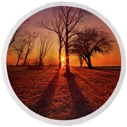 Round Beach Towel featuring the photograph As Sure As The Sun Will Rise by Phil Koch