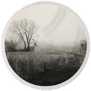 As The Fog Rolls In Round Beach Towel