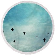 As The Ravens Fly Round Beach Towel by Priska Wettstein