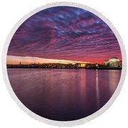 Round Beach Towel featuring the photograph Apocalyptical by Edward Kreis