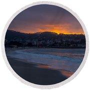 As The Sun Sets Round Beach Towel