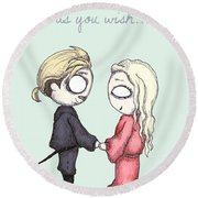 As You Wish  Round Beach Towel