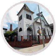 Asamblea Evangelica Evergreen Church Round Beach Towel