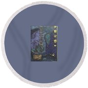 Ascending Blue Round Beach Towel