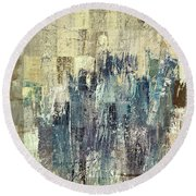 Round Beach Towel featuring the painting Ascension - C03xt-159at2b by Variance Collections