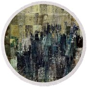 Round Beach Towel featuring the painting Ascension - C03xt-159at2c by Variance Collections