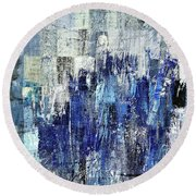 Round Beach Towel featuring the digital art Ascension - C03xt-160at2c by Variance Collections