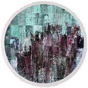 Round Beach Towel featuring the digital art Ascension - C03xt-161at2c by Variance Collections