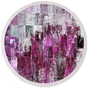 Round Beach Towel featuring the digital art Ascension - C03xt-165at2c by Variance Collections