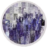 Round Beach Towel featuring the painting Ascension - C03xt-166at2c by Variance Collections